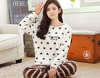 Женские теплые пижамы.Модель 2047, фото 2