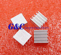 Радиатор для микросхем памяти; алюминиевый; 8,8мм х 8,8мм х 5 мм