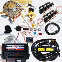 Мини-комплект Stag-300 Qmax plus 8, редуктор KME Gold, форсунки Hana, фильтр.