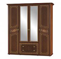 Шкаф в спальню 4Дв Алабама 198х63х221 см. ВишняПортофино