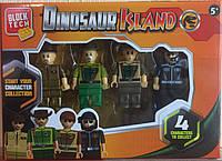 Block Tech Dinosaur Island / Остров Динозавр Четыре фигурки (4 шт.)