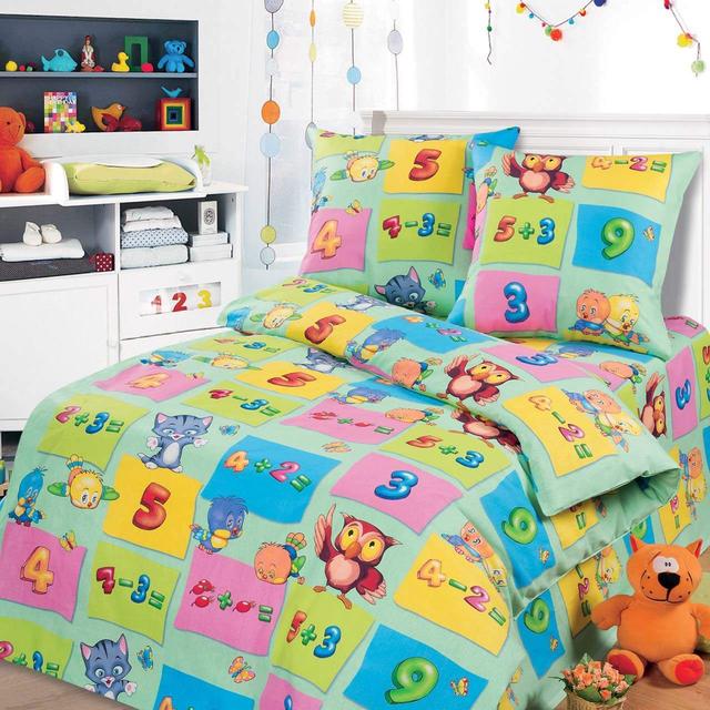 Сменный постельный комплект в кроватку «Арифметика baby», KidsDreams