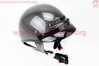 Шлем каска с козырьком VEGA Solid карбон размер  L