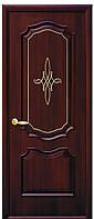 Дверь ИНТЕРА РОКА, ПВХ DeLuxe  grey, венге nev, золотая ольха, каштан, ясень (с гравировкой Gold)