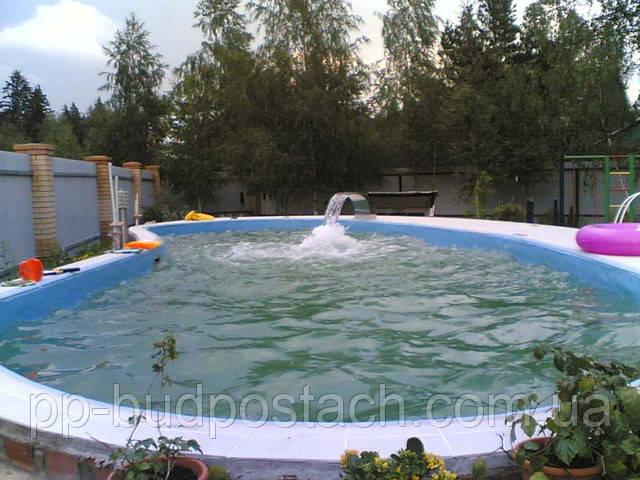 Процес створення бетонного бассейну