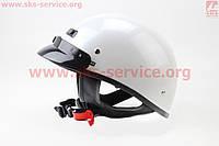Шлем каска с козырьком белый VEGA Solid  размер ХXL