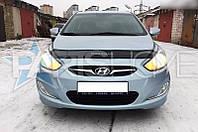 Дефлектор Капота Мухобойка Hyundai Accent с 2010 г.в. Короткий