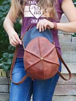 Рюкзак-кепка кожаный