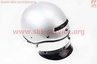 Шлем каска с козырьком серебристый VEGA Solid  размер XS