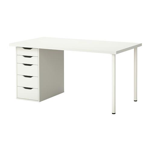 """IKEA """"ЛИННМОН / АЛЕКС"""" Стол, белый, 150x75 см"""