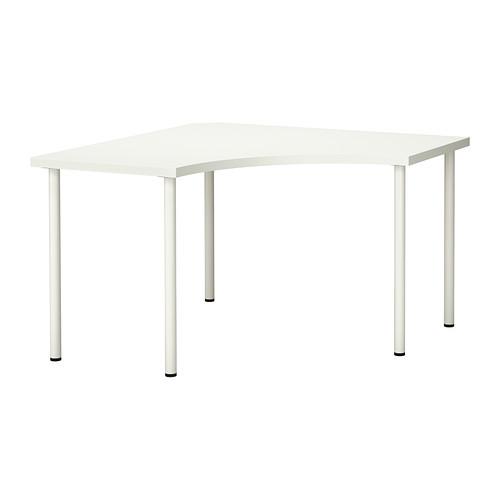 """IKEA """"ЛИННМОН / АДИЛЬС"""" Угловой стол, белый, 120x120 см"""