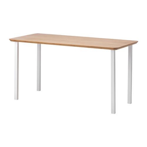 """IKEA """"ХИЛВЕР / ГОДВИН"""" Стол, бамбук, белый, 140x65 см"""