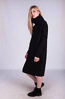 Теплое женское платье миди