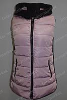 Женская спортивная жилетка на замке розовая