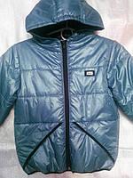 """Демисезонная куртка  серебристо-серая на мальчика """"F&S"""" 116,128,134р"""