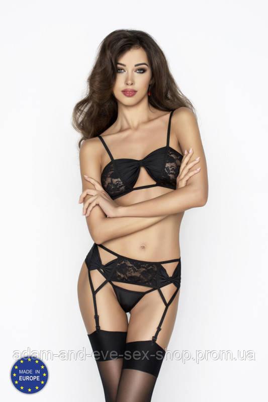 Эротический черный комплект Passion Erotic Line AURA SET L\XL