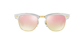 Солнцезащитные очки Ray-Ban CLUBMASTER ALUMINUM MIRROR COLLECTION SILVER/PINK RB3507 51