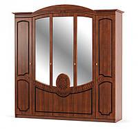 Шкаф в спальню 5дв Барокко 224х60х225 см. Береза, Вишня