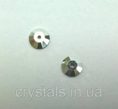 Пришивные паетки хрустальные Preciosa (Чехия) Crystal Labrador 5 мм