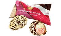 Конфеты Сливочный коктейль клубника со сливками 1,7кг. ТМ Шоколадно
