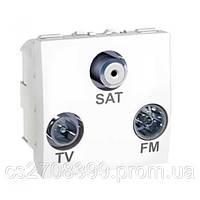 Tv-r-sat розетка, индивид., бел. MGU3.454.18