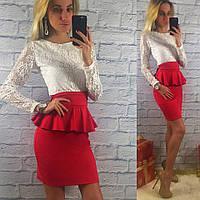 d25005e4e4f3ce0 Женское платье гипюр баска в Украине. Сравнить цены, купить ...
