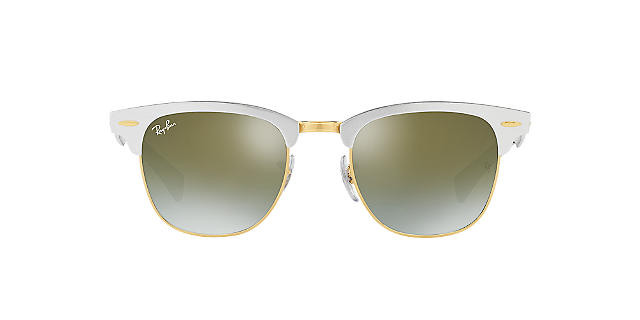 Солнцезащитные очки Ray-Ban CLUBMASTER ALUMINUM MIRROR COLLECTION SILVER/GREEN RB3507 51
