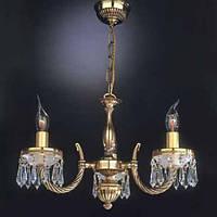 Люстра RECCAGNI ANGELO L 4751/3 золото/свічки/кришталь