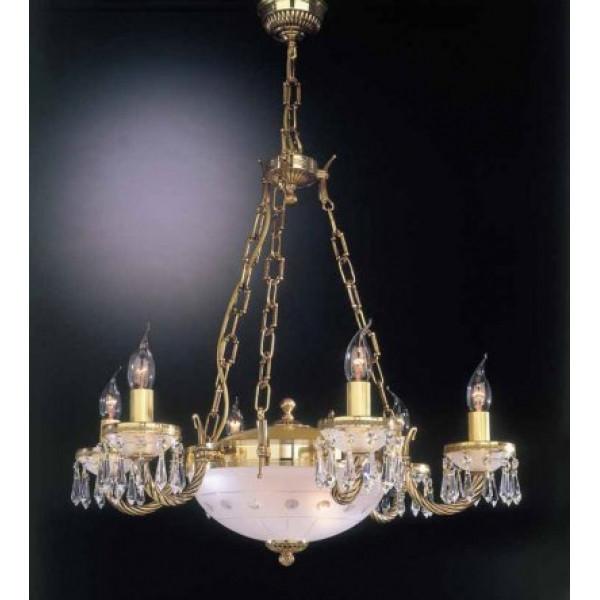 Люстра RECCAGNI ANGELO L 4751/6+2 золото/свечи/хрусталь