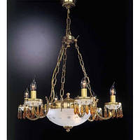 Люстра RECCAGNI ANGELO L 4752/6+2 золото/свечи/топаз