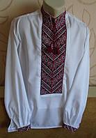 """Чоловіча сорочка-вишиванка """"Колосок"""",  на білому попліні, розмір 50"""
