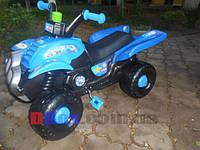 Квадроцыкл педальный Best Junior Rider синий + прицеп Польша OR