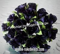 Букет розы из атласа,чёрный