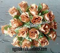 Букет розы из атласа,золото