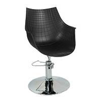 Кресло парикмахерское Кристаль P черное (СДМ мебель-ТМ)