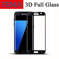 Защитное стекло Fema 3D 9H на весь экран для Samsung Galaxy S7 Edge G935F черный