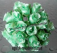 Букет розы из атласа,светло салатовый