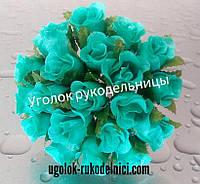 Букет розы из атласа,мята