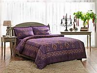 Постельное белье ТАС сатин delux Grota фиолетовое евро размера
