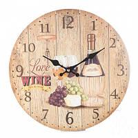 """Оригинальные настенные часы """"Вино"""" 34 см"""