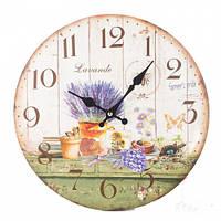 "Милые часы на стену ""Лаванда на окне"" 34 см"