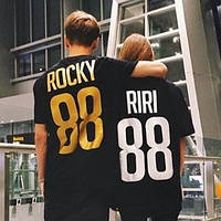 Именные футболки для пары