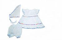 Платье летнее из батиста «Квиточка» с косынкой и шортами