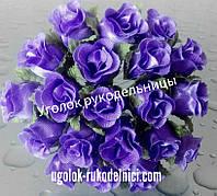 Букет розы из атласа,средне фиолетовый