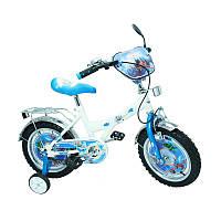 """Велосипед Самолеты 14 BT-CB-0010 белый с голубым, система: """"One piece crank"""