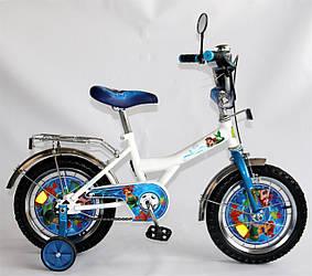 """Велосипед Русалочка 14 BT-CB-0020 белый с голубым, система: """"One piece crank"""""""