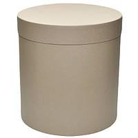 Шляпная коробка песочно бежевая 22 на 25 см