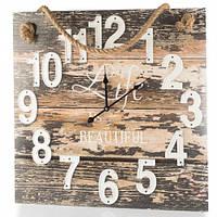 """Большие настенные часы """"Жизнь прекрасна"""" 58х58 см (основа пластик)"""