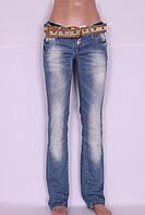 Джинсы женские прямые Louis Vuitton (код 0166) размер 26,27.