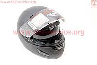 Шлем закрытый с очками черный матовый  размер XXL